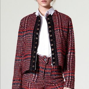 Cona Red Tweed Jacket for Storets